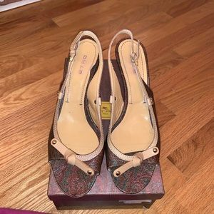 Etro Paisley Sling Back Pumps